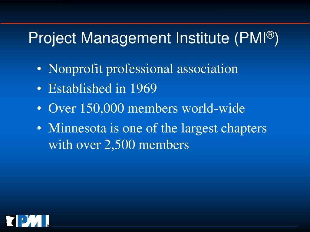 Project Management Institute (PMI