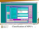 classification of npo s