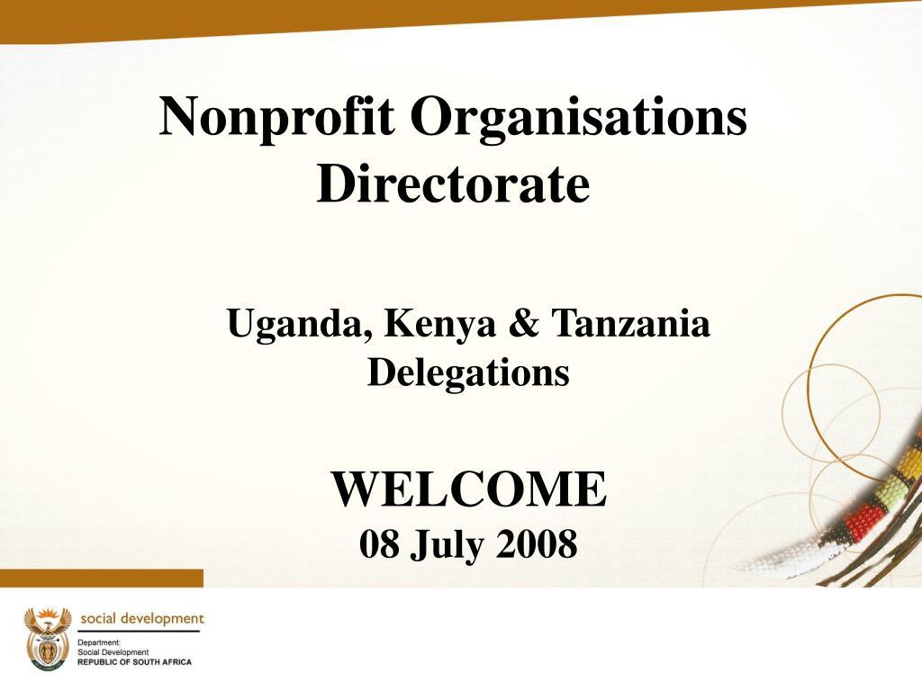 nonprofit organisations directorate