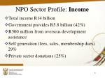 npo sector profile income