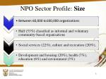 npo sector profile size