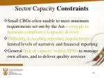 sector capacity constraints