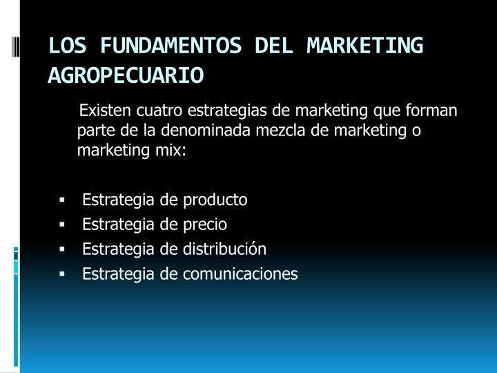 LOS FUNDAMENTOS DEL MARKETING AGROPECUARIO