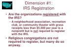 dimension 1 irs registration