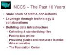 nccs the past 10 years