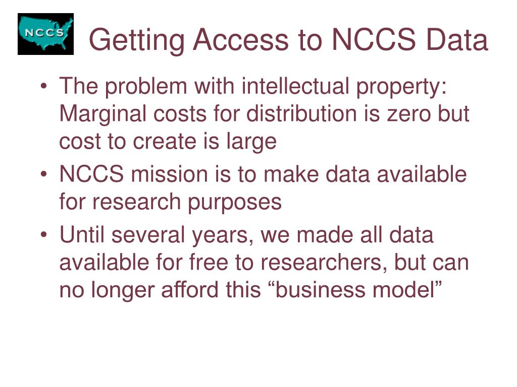 Getting Access to NCCS Data
