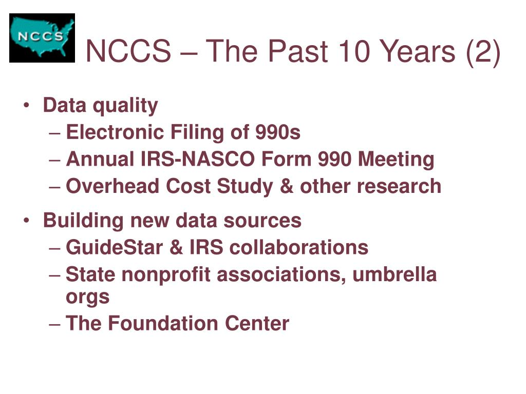NCCS – The Past 10 Years (2)