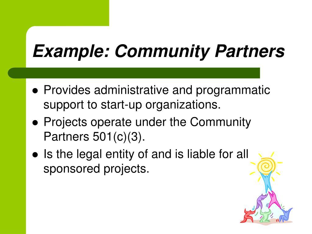 Example: Community Partners