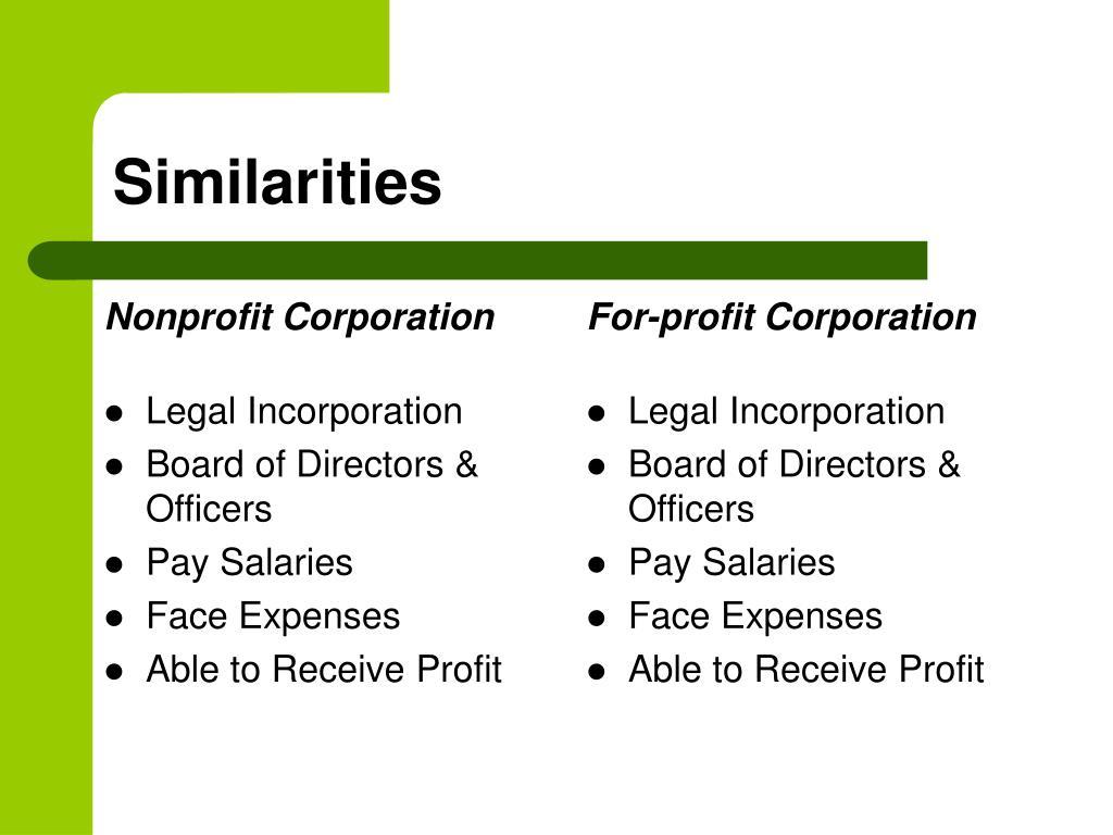 Legal Incorporation