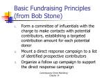 basic fundraising principles from bob stone