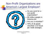 non profit organizations are america s largest employer
