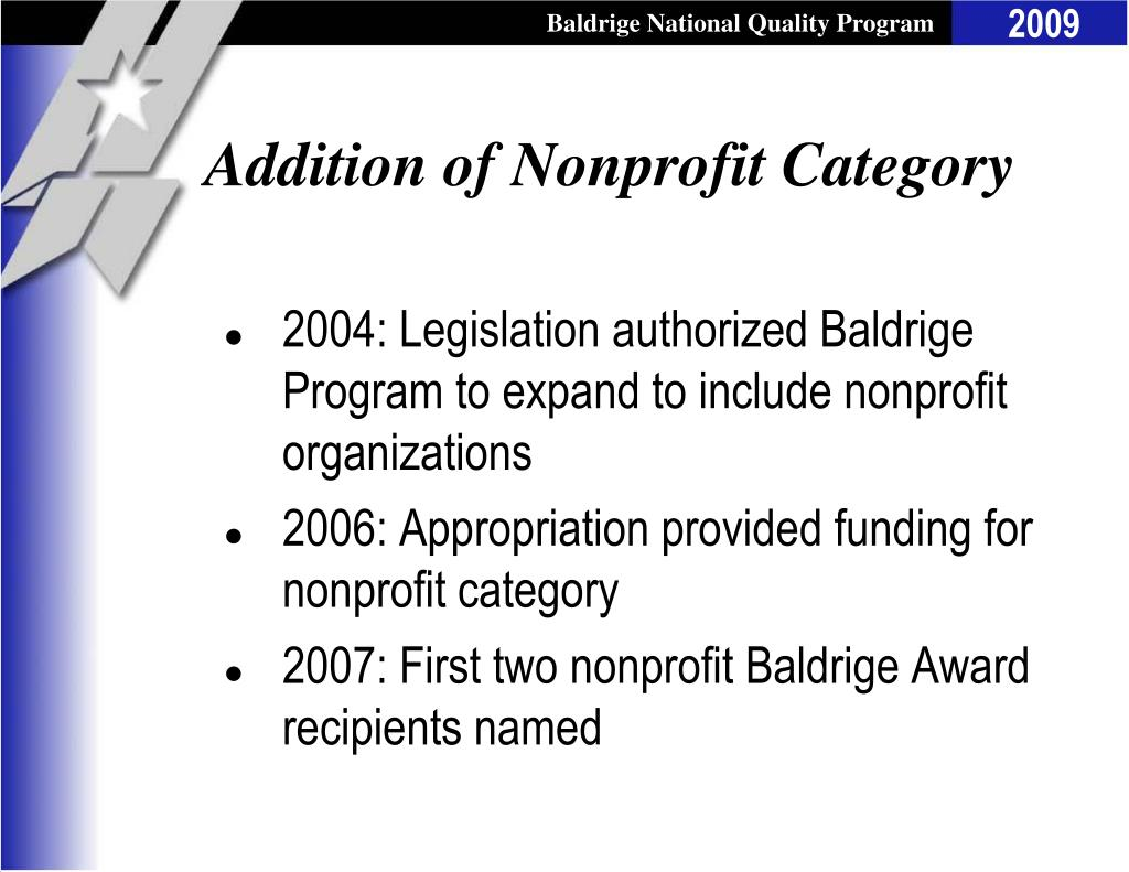 Addition of Nonprofit Category