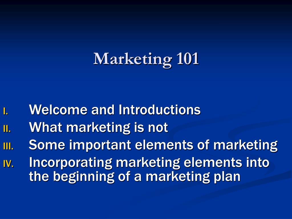 Marketing 101