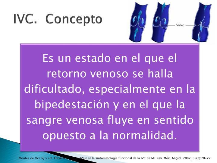 IVC.  Concepto