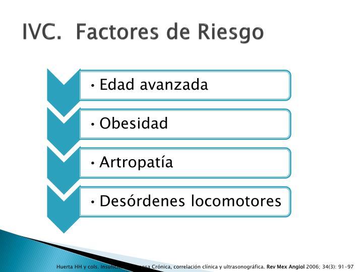 IVC.  Factores de Riesgo