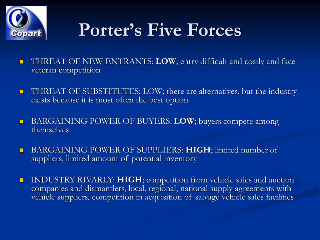 porter s five forces white goods