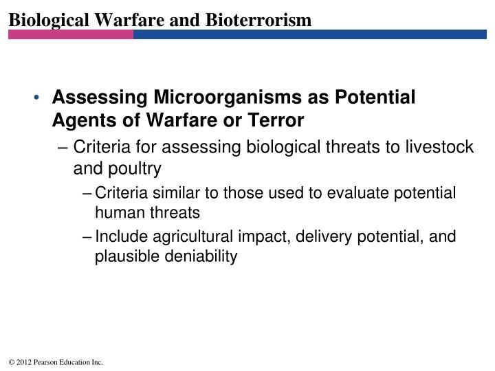 Biological Warfare and Bioterrorism