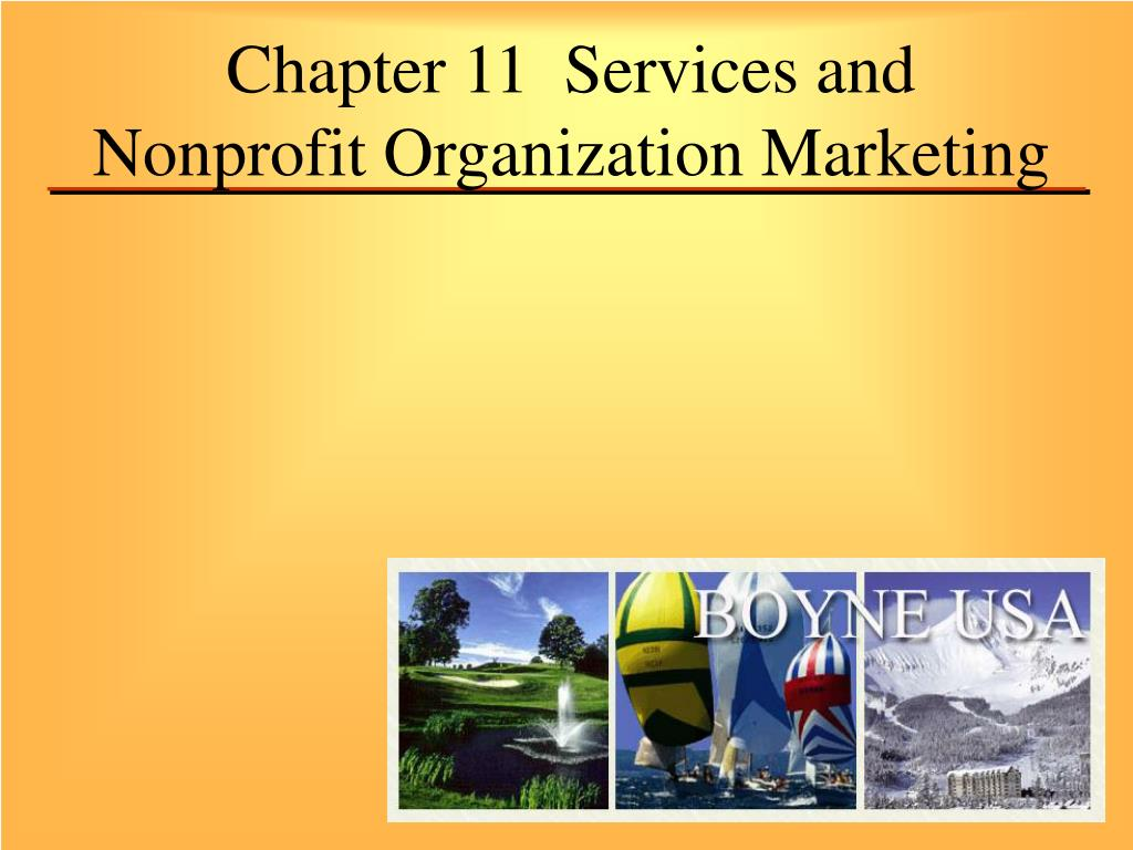 chapter 11 services and nonprofit organization marketing l.