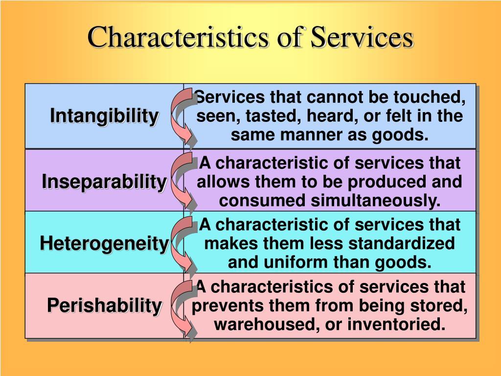 characteristics of service organizations