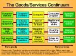the goods services continuum