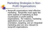 marketing strategies in non profit organizations