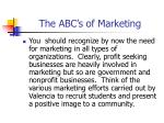 the abc s of marketing