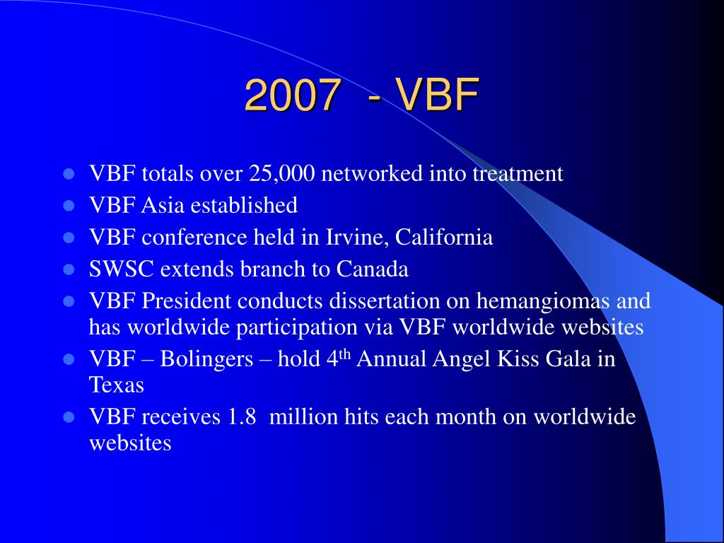 2007  - VBF