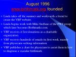august 1996 www birthmark org founded