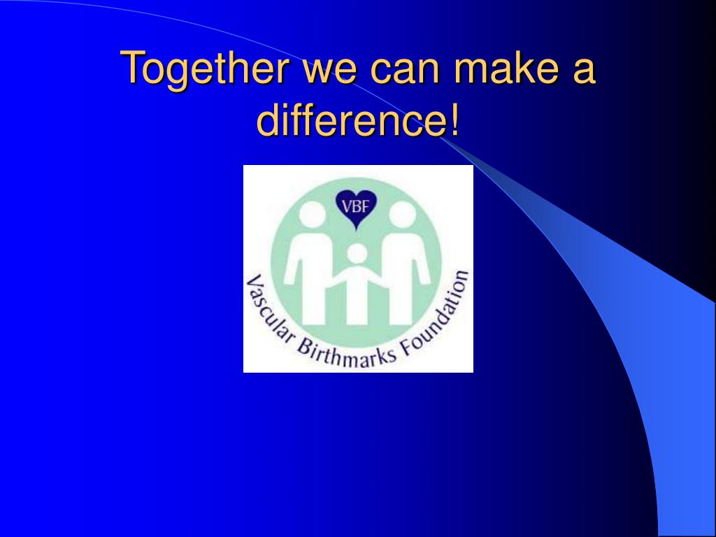 Together we can make a difference!