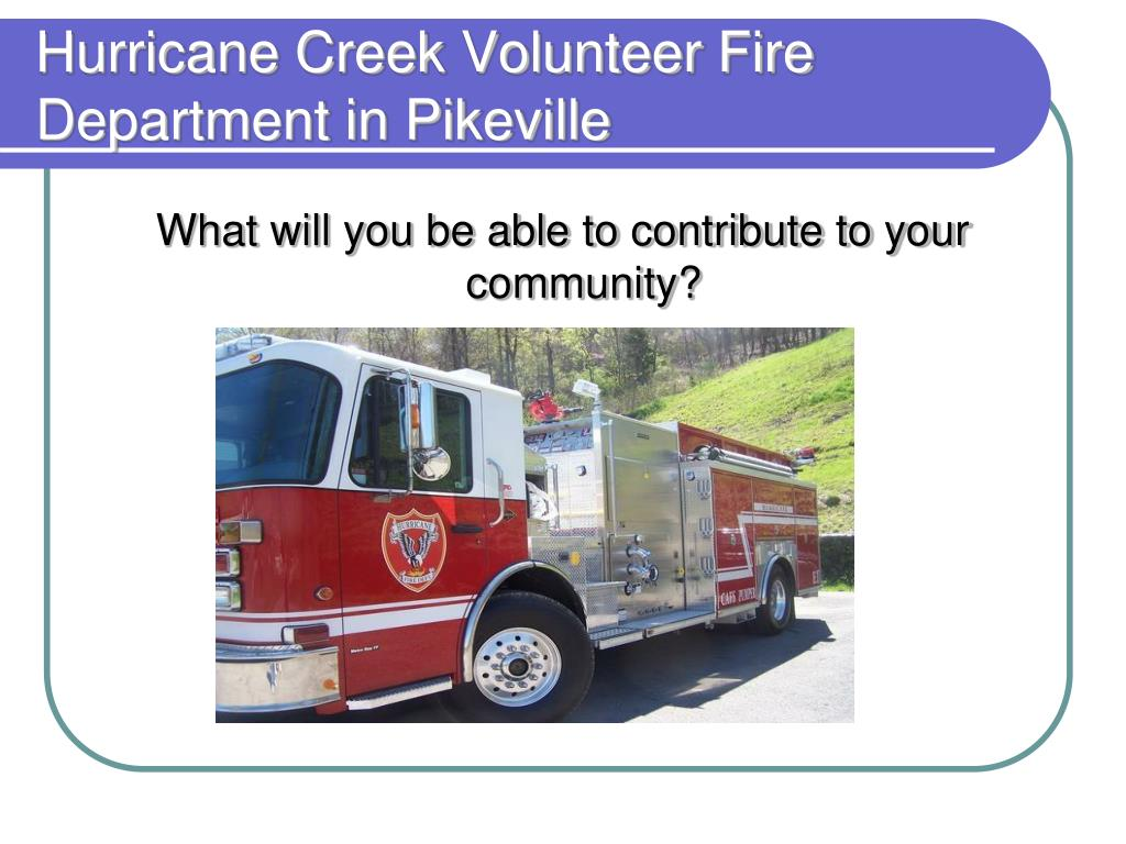 Hurricane Creek Volunteer Fire Department in Pikeville