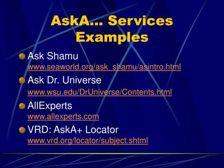 AskA… Services Examples