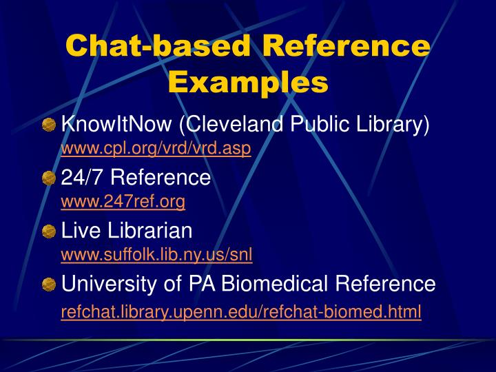 Chat-based Reference Examples