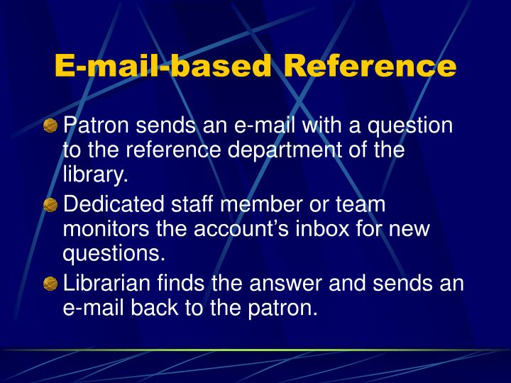 E-mail-based Reference