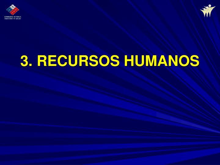 3. RECURSOS HUMANOS