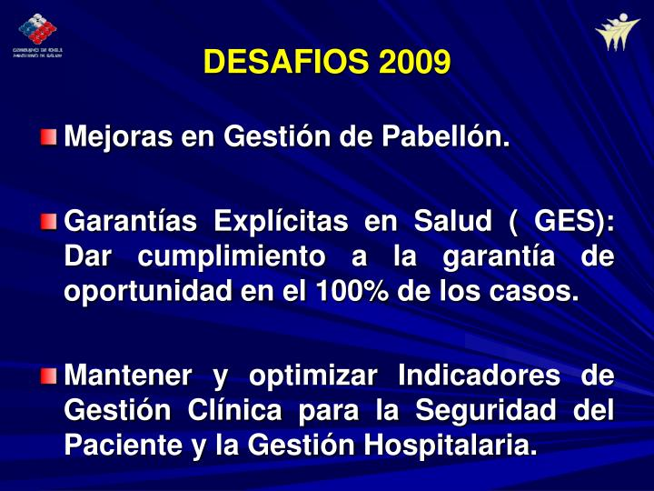 DESAFIOS 2009