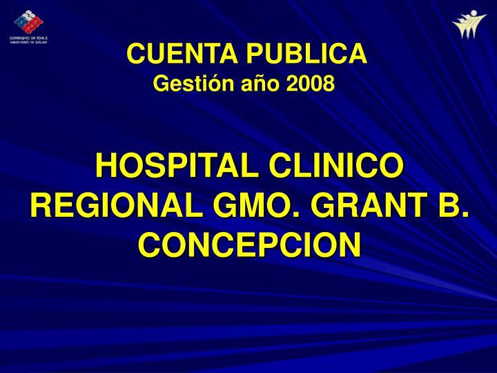 Hospital clinico regional gmo grant b concepcion
