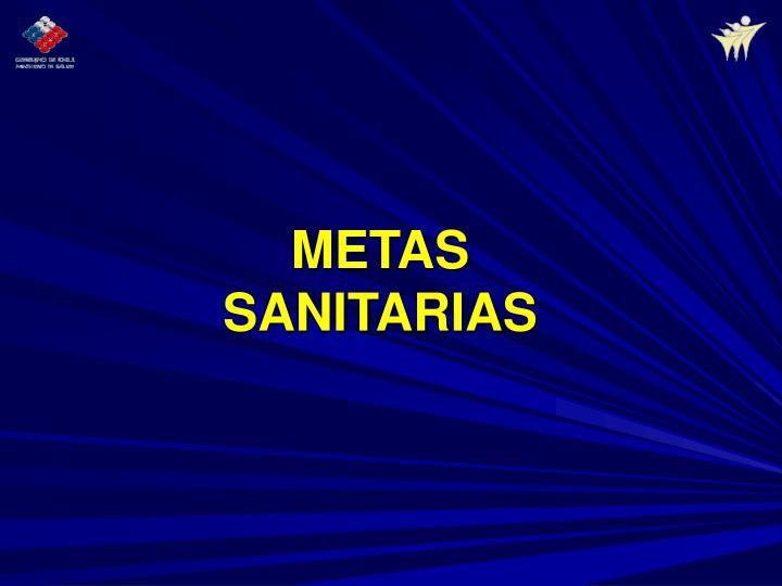 METAS SANITARIAS