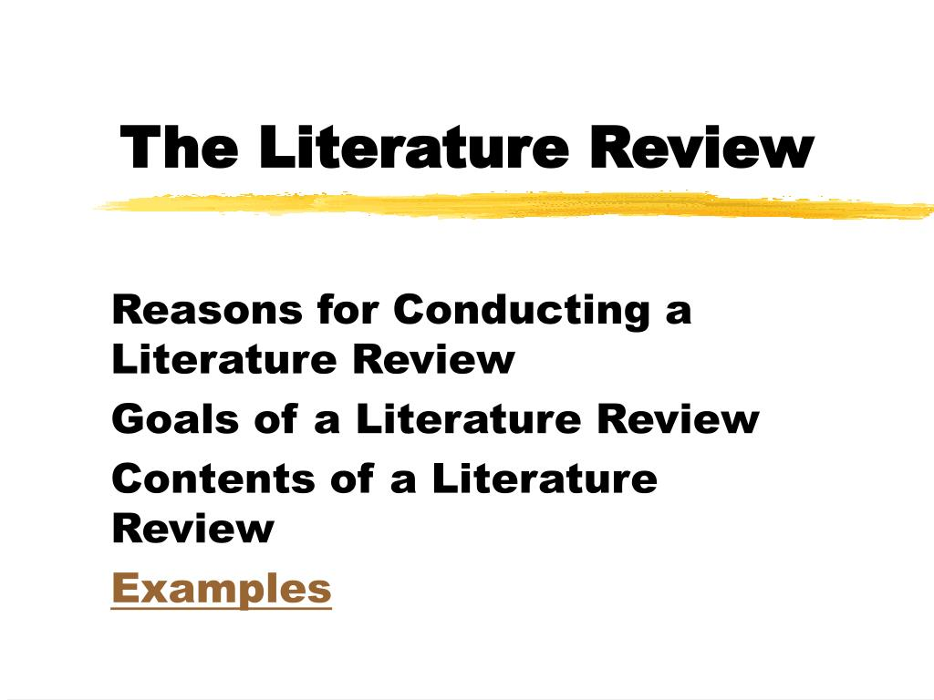 Ppt The Literature Review Powerpoint Presentation Id888829