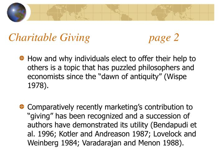 Charitable giving page 2