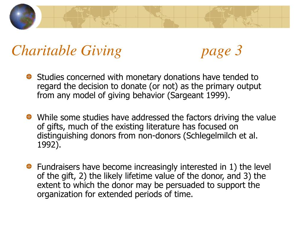 Charitable Giving                     page 3