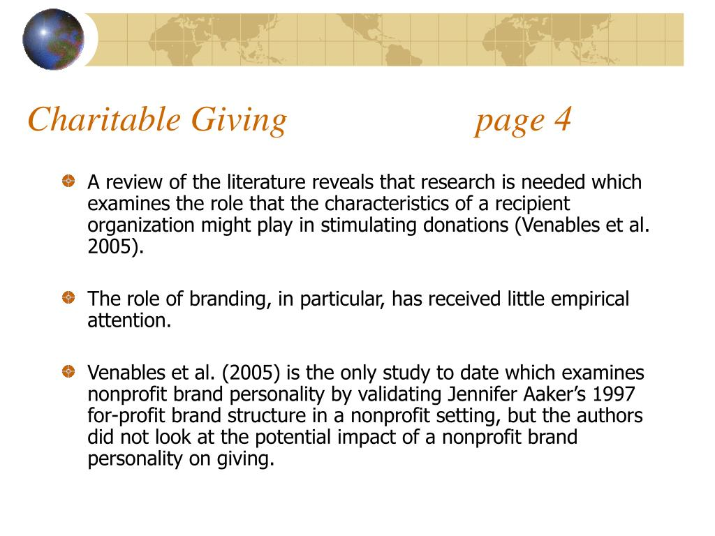 Charitable Giving                     page 4