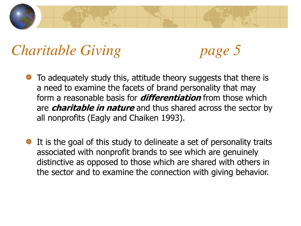 Charitable Giving                     page 5