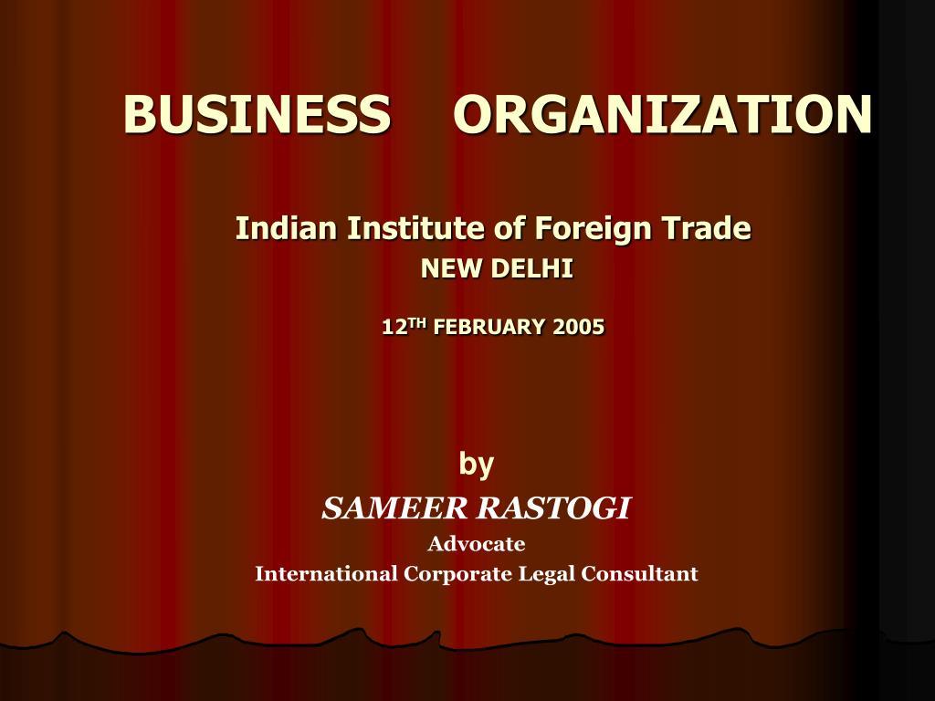 business organization l.