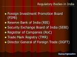 regulatory bodies in india