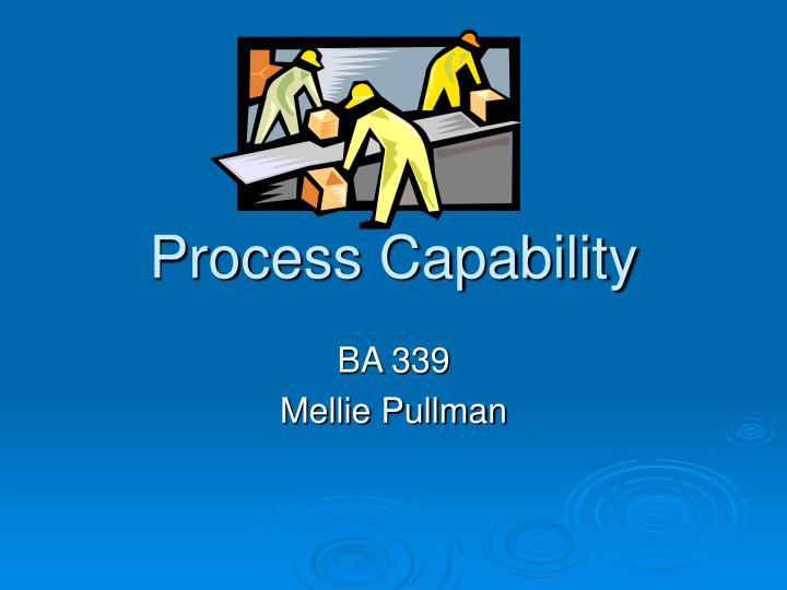 process capability n.