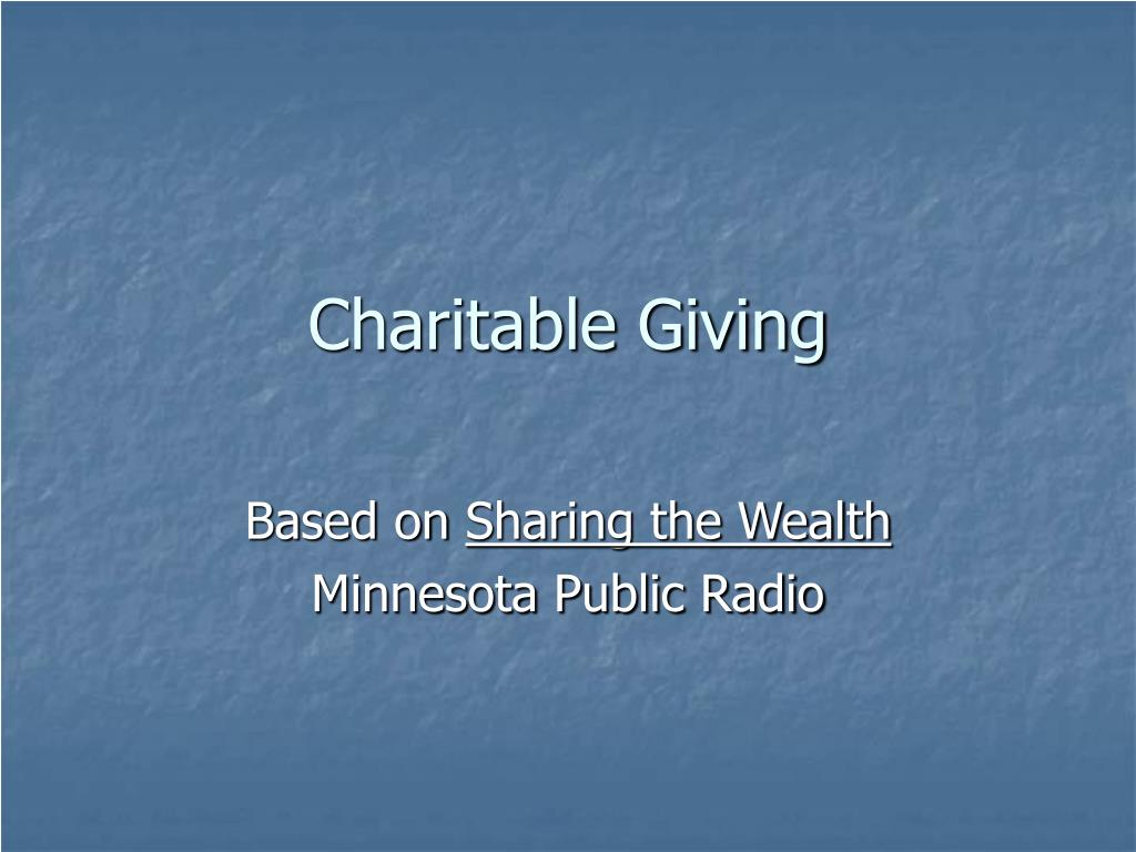 charitable giving l.