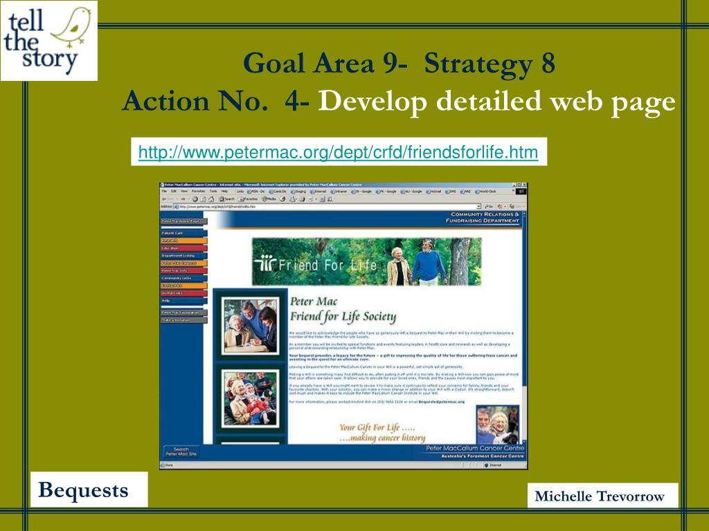 Goal Area 9-  Strategy 8