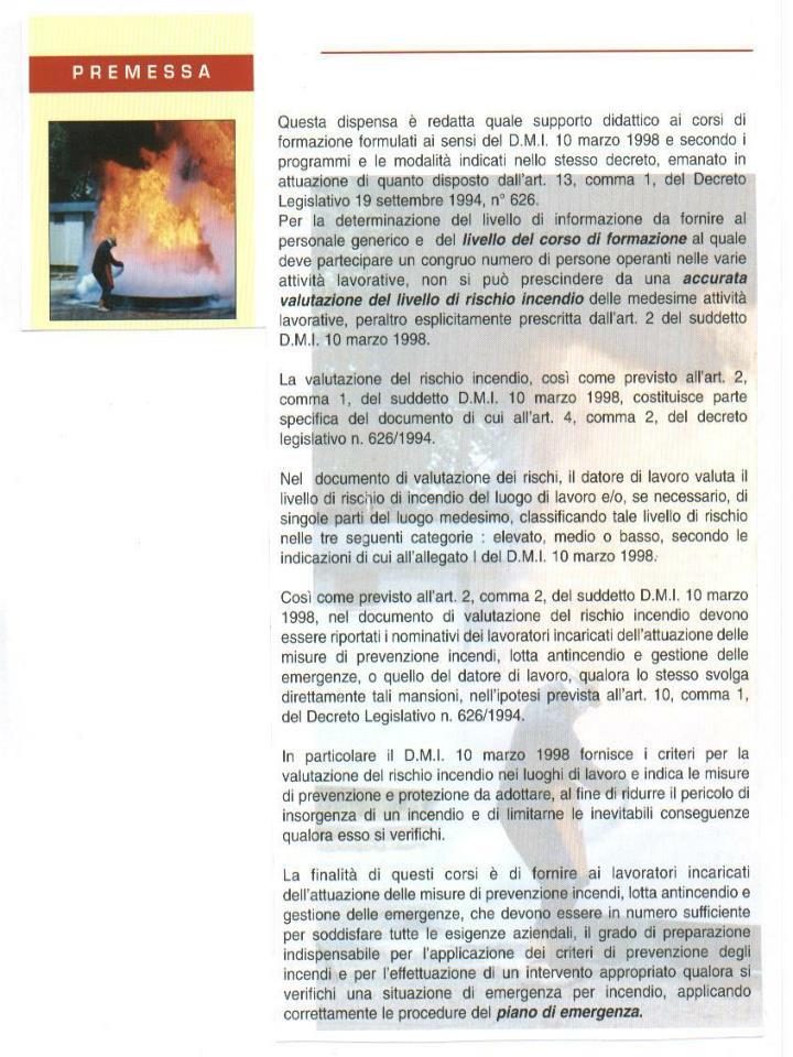 Corso prevenzione incendi