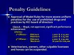 penalty guidelines