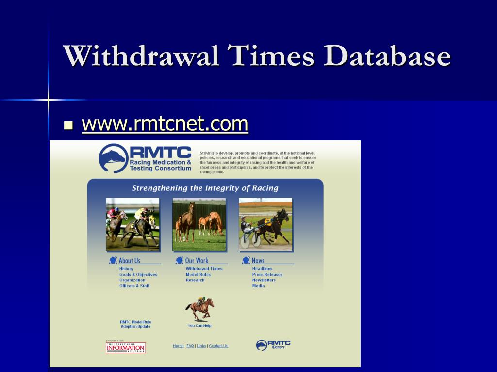 Withdrawal Times Database